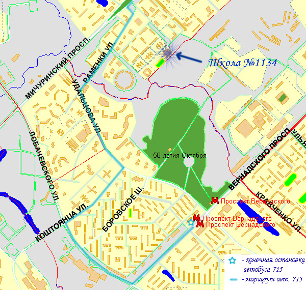 Схема проезда №1 (маршрут авт.